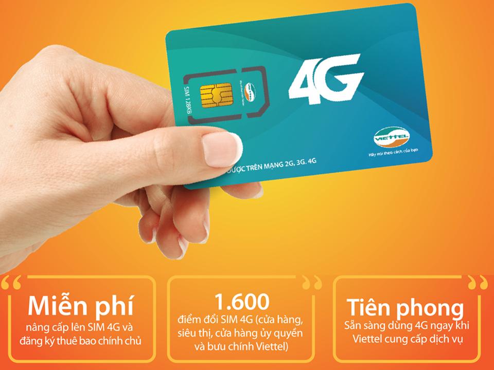 Cách đăng ký sim 4G Viettel