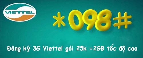 Hướng dẫn cách đăng ký 4G Viettel tháng 25k