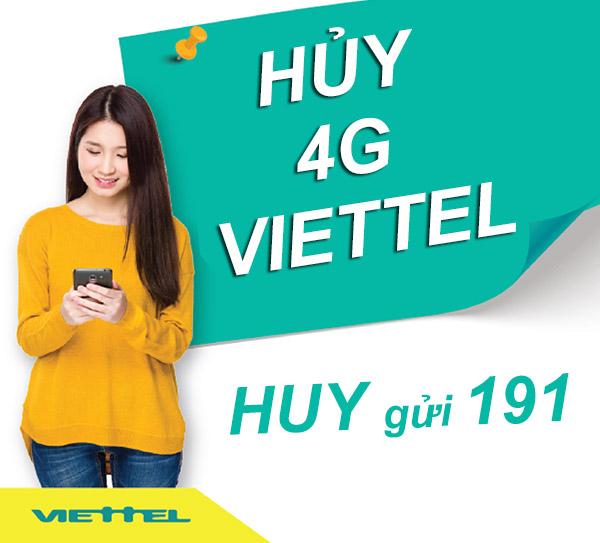 Hướng dẫn hủy gói 4G Viettel nhanh nhất